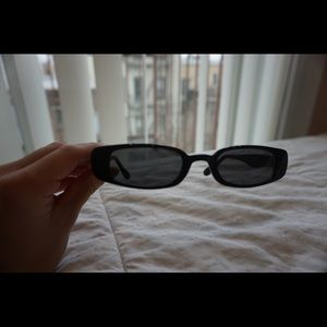 Accessories - Thin Black Square 90s Sunglasses